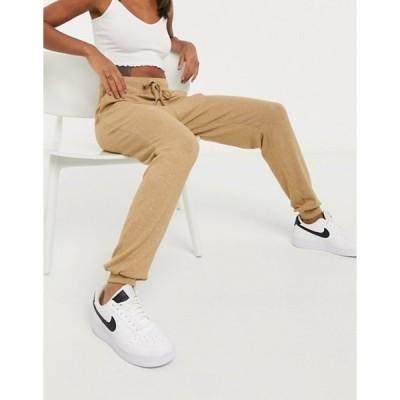 エイソス レディース カジュアルパンツ ボトムス ASOS DESIGN supersoft sweatpants with metal tie ends in camel