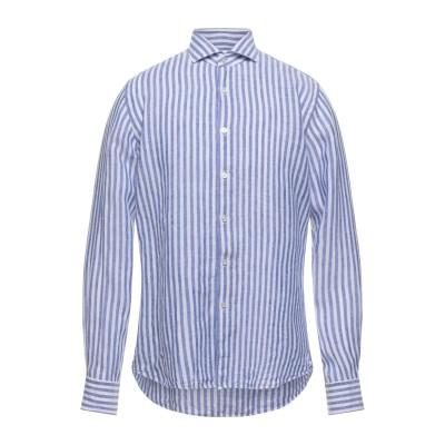 XACUS シャツ アジュールブルー 43 リネン 100% シャツ