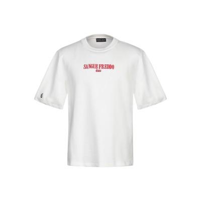 SANGUE FREDDO スウェットシャツ ホワイト L コットン 100% スウェットシャツ