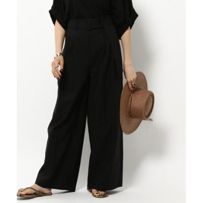 BABYLONE / 【WEB先行販売】ハイウエストワイドパンツ WOMEN パンツ > スラックス