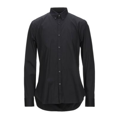 XACUS シャツ ブラック 43 コットン 79% / ナイロン 17% / ポリウレタン 4% シャツ