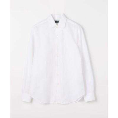 TOMORROWLAND/トゥモローランド コットンシアサッカー ワイドカラーシャツ Long Beach 11 ホワイト L