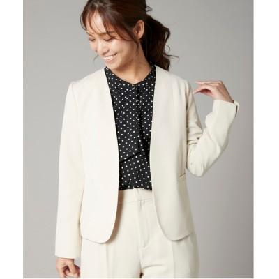 MEW'S REFINED CLOTHES / ストレッチノーカラージャケット WOMEN ジャケット/アウター > ノーカラージャケット