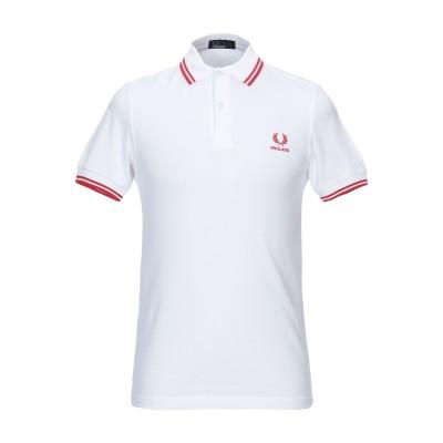 フレッドペリー FRED PERRY ポロシャツ ホワイト S コットン 100% ポロシャツ