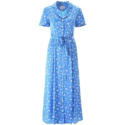 HVN/ヘイチヴィーエヌ ワンピース TURQUOISE SHINY ZODIAC Hvn silk maria dress レディース 春夏2020 SS201402 ik