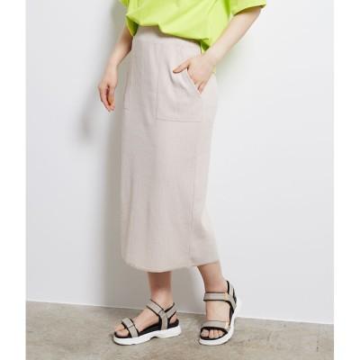 【ロペピクニック/ROPE' PICNIC】 リブカットタイトスカート