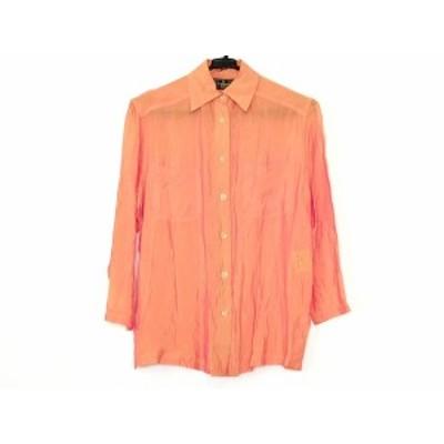 フェンディ FENDI jeans 長袖シャツブラウス サイズ40 M レディース - オレンジ【中古】20201210