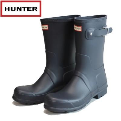 ハンター HUNTER メンズ オリジナルショート ラバーブーツ hmfs9000rma: NVY 国内正規品 WELLY/長靴/レインブーツ/cat-fs/靴/シューズ
