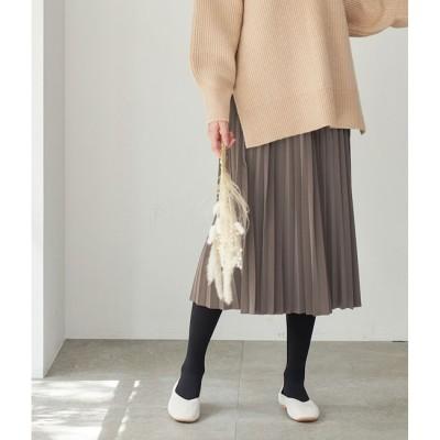 【ロペピクニック/ROPE' PICNIC】 【emur】フェイクレザープリーツスカート