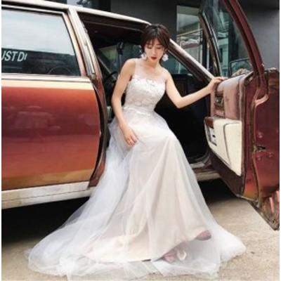 ウェディングドレス 白 二次会 花嫁 ウェディングドレス ウェディング 白 ワンピース ドレス ロングドレス ウェディングドレス 大きいサ