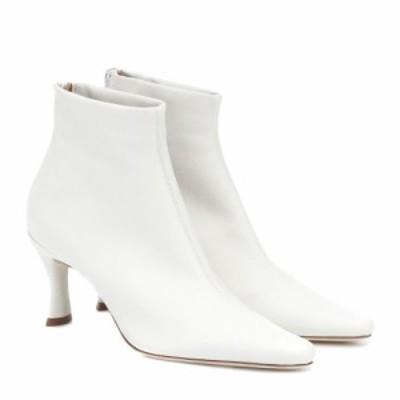 バイ ファー By Far レディース ブーツ ショートブーツ シューズ・靴 Stevie 22 leather ankle boots White