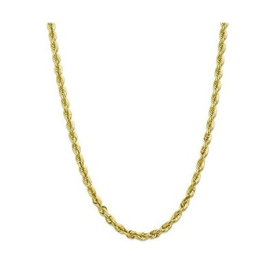 10k Yellow Gold 5.5mm Diamond-Cut Rope Chain Necklace Lobster Clasp 20inch for Men Women