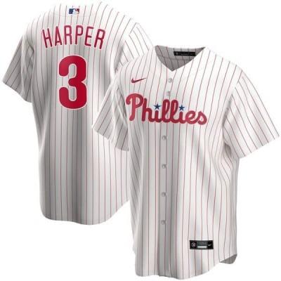 ナイキ メンズ Tシャツ トップス Bryce Harper Philadelphia Phillies Nike Home 2020 Replica Player Jersey