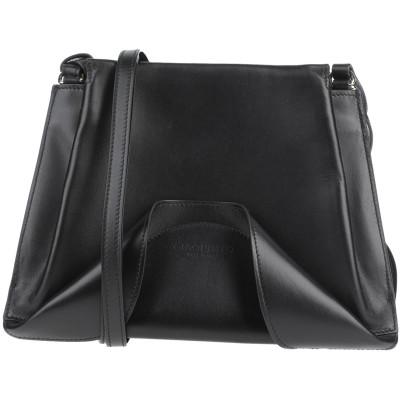 GIAQUINTO メッセンジャーバッグ ブラック 革 メッセンジャーバッグ