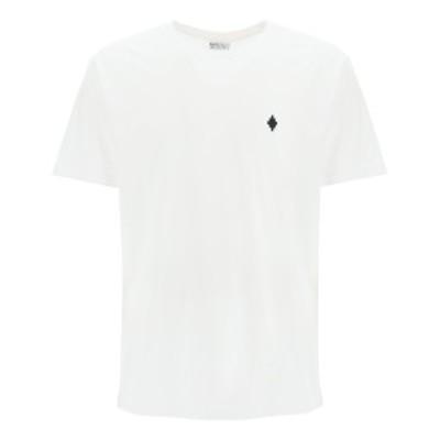 MARCELO BURLON/マルセロ バーロン Mixed colours Marcelo burlon t-shirt with fire cross embroidery メンズ 春夏2021 CMAA075R21JER00