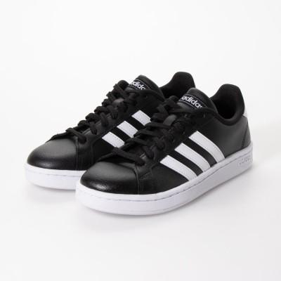 アディダス adidas レディース GRANDCOURT LEA U (ブラック×ホワイト)