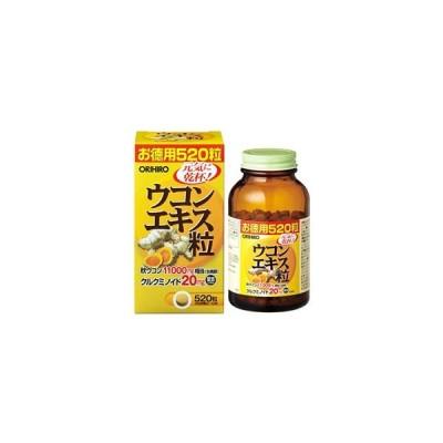 オリヒロ ウコンエキス粒 徳用 (520粒) 秋ウコン クルクミノイド ※軽減税率対象商品