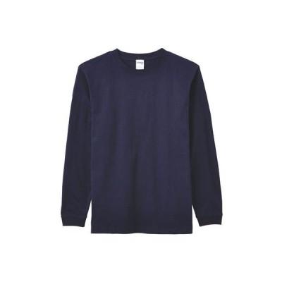 (ライフマックス)LIFEMAX(ライフマックス) 6.2oz ヘビーウェイトロングスリーブTシャツ(ユニセックス・リブ付ロンT) MS1607 8 ネイビー XXL