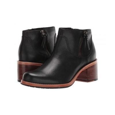 Clarks クラークス レディース 女性用 シューズ 靴 ブーツ アンクル ショートブーツ Clarkdale Dawn - Black Leather