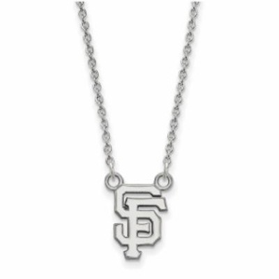 LogoArt ロゴアート アクセサリー ジュエリー San Francisco Giants Womens Small Sterling Silver Pendant Necklace