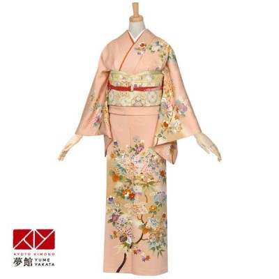 袷 訪問着 レンタル 結婚式 入学式 卒業式 ピンク 椿と桐(金駒刺繍) 対応身長155〜159cm H233