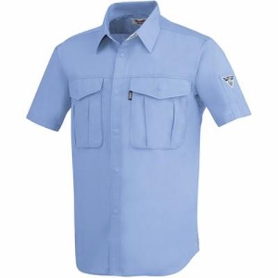ジーベック(XEBEC) プリーツロンミニ半袖シャツ 40/ブルー 1292 【作業服 作業着 ワークウエア ワークウェア メンズ レディース】