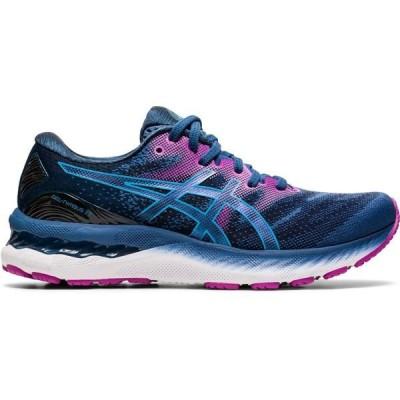 アシックス シューズ レディース ランニング ASICS Women's Gel-Nimbus 23 Running Shoes Navy/Pink