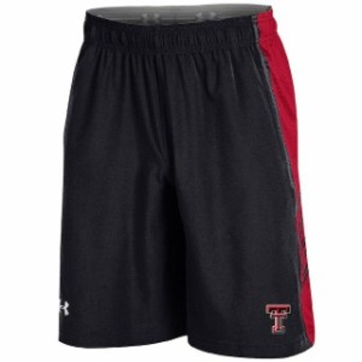 Under Armour アンダー アーマー スポーツ用品  Under Armour Texas Tech Red Raiders Black Woven Training Shorts