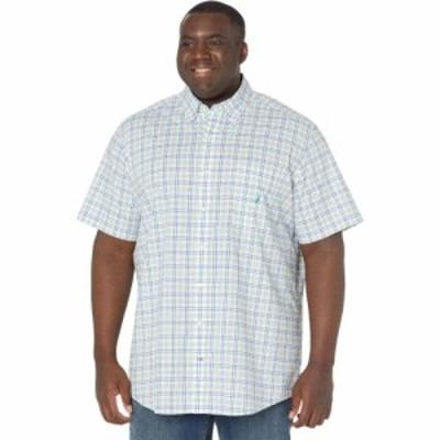 ノーティカ Nautica Big and Tall メンズ シャツ 大きいサイズ ワイシャツ トップス Big and Tall Classic Fit Plaid Oxford Shirt Ocean
