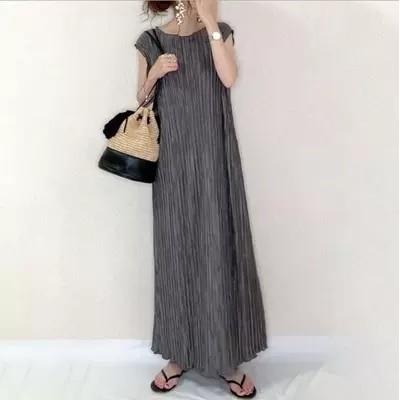 Q196  韓国ファッション 無袖ワンピース ノースリーブ チョッキワンピース 無地 着回し抜群