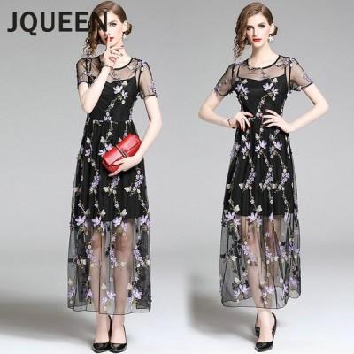JQUEEN パーティードレス 結婚式 ワンピース 20代 30代 パーティドレス 花柄刺繍 ワンピース ウェディングドレス ウエディング ドレス 二次会 花嫁 ブライズ