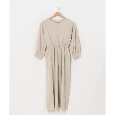 ドレス ゆったり長袖ロングワンピース