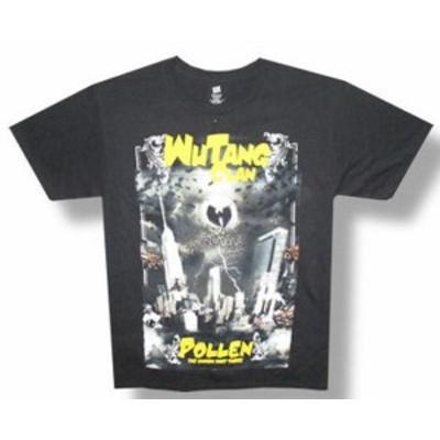 ファッション トップス Wu Tang Clan-Pollen-Black T-shirt