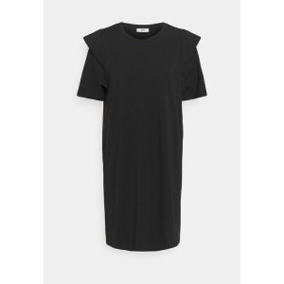 オンリー レディース ワンピース トップス ONLROCKY SHORT DRESS - Day dress - black black