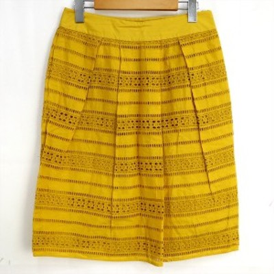 マックスマーラ Max Mara スカート イエロー サイズ38 綿100% レディースファッション?C【kk】【中古】