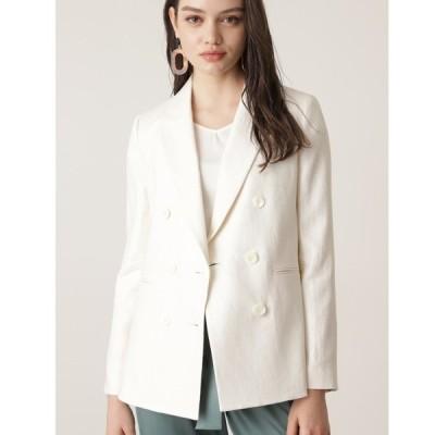ジャケット テーラードジャケット ◆ヘリンボーンダブルブレストジャケット
