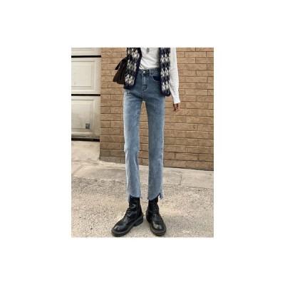 【送料無料】ハイウエスト ストレッチ 女性のジーンズ 秋冬 韓国風 レトロ   346770_A64507-6212359