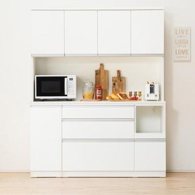 食器棚(レジューム 150TF-H WH/150QL-R WH) ニトリ 『配送員設置』 『5年保証』
