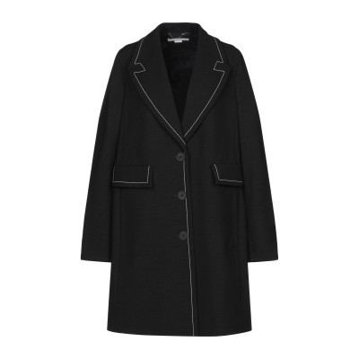 ステラ マッカートニー STELLA McCARTNEY コート ブラック 44 ウール 96% / ポリウレタン 4% コート