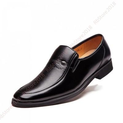 スリッポン メンズ ビジネスシューズ ストレートチップ ローカット 靴 ウォーキング シューズ 革靴 春秋 防滑 ラウンドトゥ ローカット 防滑 屈曲性