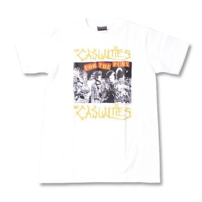 Tシャツ バンドTシャツ ロックTシャツ 半袖 (W) カジュアルティーズ THE CASUALTIES 3 WHT S/S 白