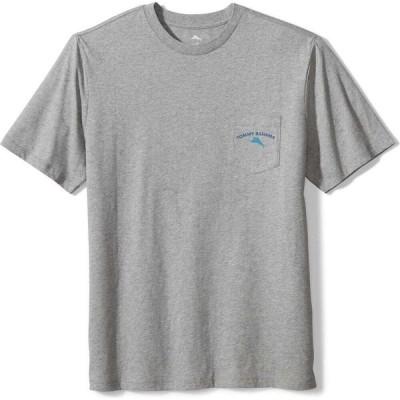 トミー バハマ TOMMY BAHAMA メンズ Tシャツ ポケット トップス Stay Mowtivated Pocket Graphic Tee Grey Heather