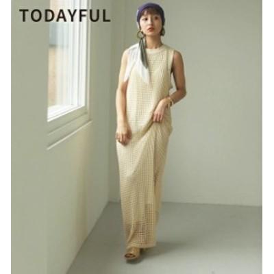 【SALE】【セール】【20%OFF】TODAYFUL トゥデイフル LIFEs ライフズ Mesh Knit Dress メッシュニットドレス ワンピース 12110303【2021