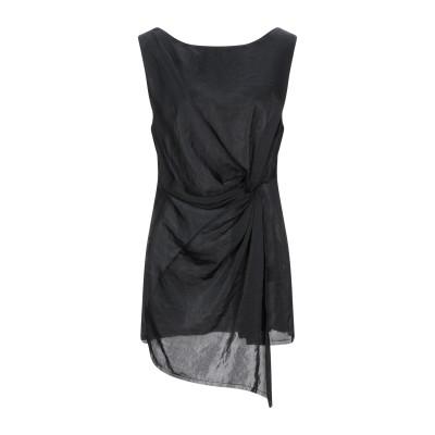 マスナダ MASNADA ミニワンピース&ドレス ブラック 42 ポリエステル 100% ミニワンピース&ドレス