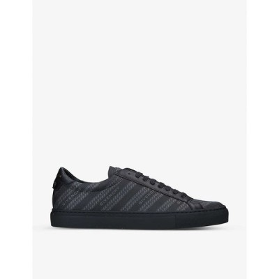 ジバンシー GIVENCHY メンズ スニーカー シューズ・靴 Knot chain-print leather and woven trainers BLACK