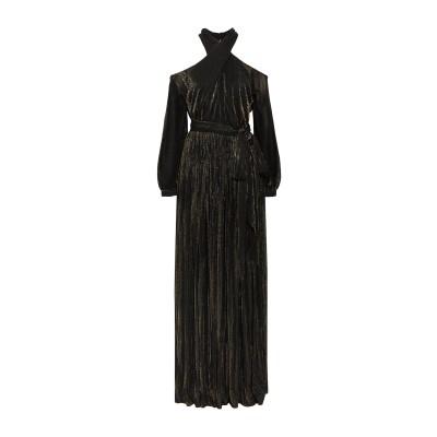 ロゼッタ・ゲッティ ROSETTA GETTY ロングワンピース&ドレス ブラック 4 レーヨン 93% / ポリエステル 7% ロングワンピース&