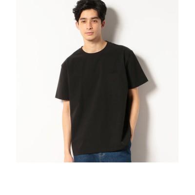 《シワ防止》ナイロンストレッチ ワイドシルエット 布帛Tシャツ 半袖