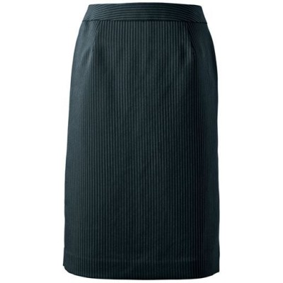 スーツ用タイトスカート(事務服・洗濯機OK)/ストライプA(総丈54cm)/64-91