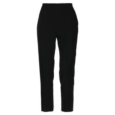 ランバン LANVIN パンツ ブラック 40 レーヨン 61% / アセテート 39% / シルク パンツ