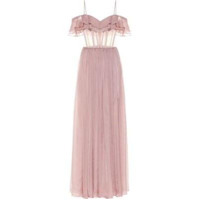 ロサリオ RASARIO レディース パーティードレス ワンピース・ドレス off-shoulder silk gown Pink Beige